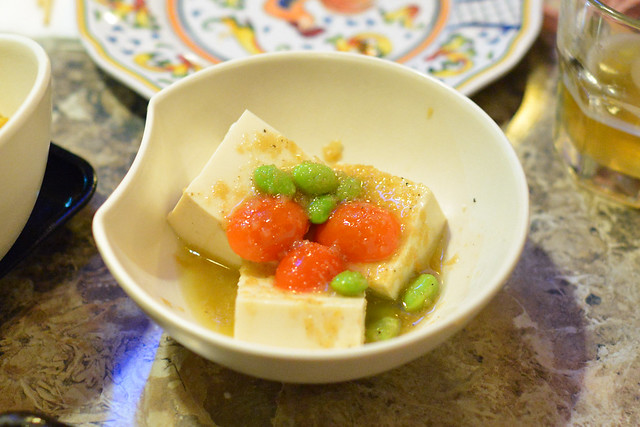 cold tofu with house dressing