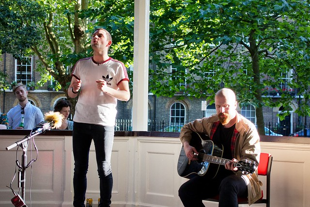 The Twilight Sad at Bandstand Busking at Northampton Square 21st June 2014