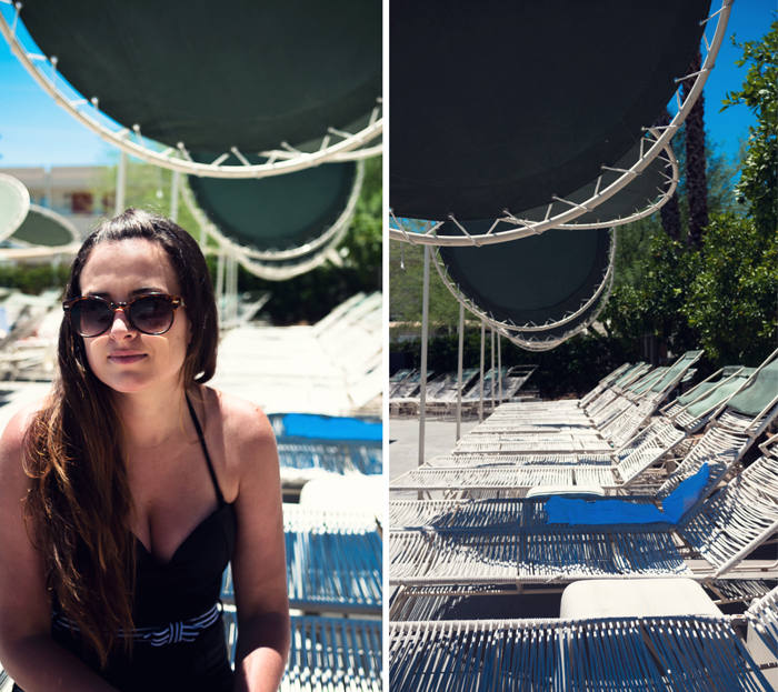 Pool chairs at the Ace Hotel in Palm Springs