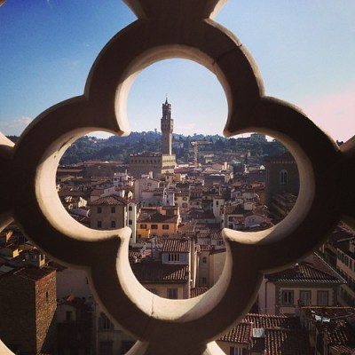 View from the Duomo bell tower. #florence #italy #travel