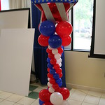 Patriotic Balloon Columns