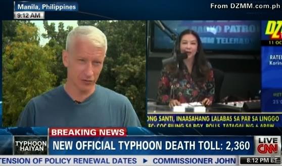 Anderson Cooper Korina Sanchez Philippines Haiyan Yolanda