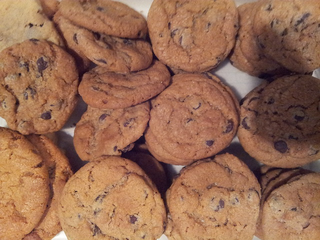 chocolate chip cookies, Christmas leftovers