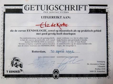 Certificate dedeuchology