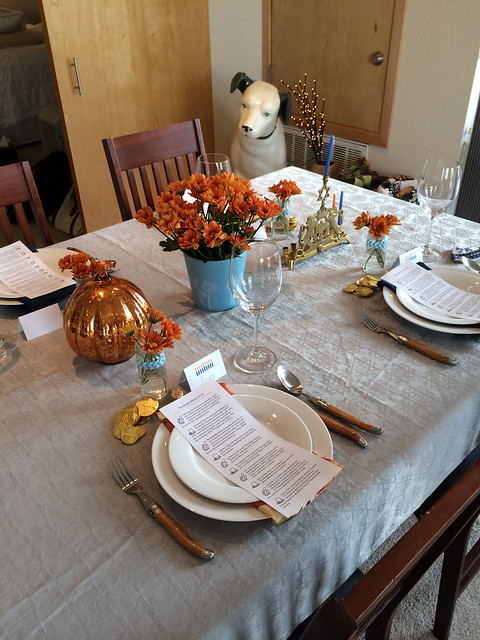 Thanksgivukkah recap- table