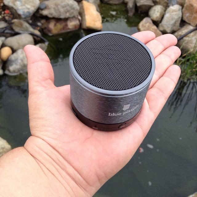 Blue Piston Wireless Rechargeable Speaker - 1