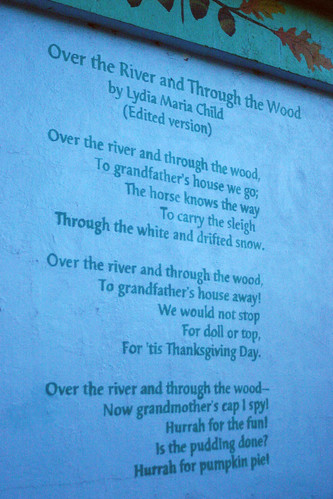 Over the river poem by Lydia Maria Child