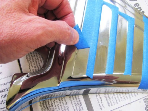 Peeling Masking Tape From Stripe