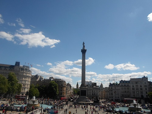Trafalgar Square, as seen from the National Portrait Gallery