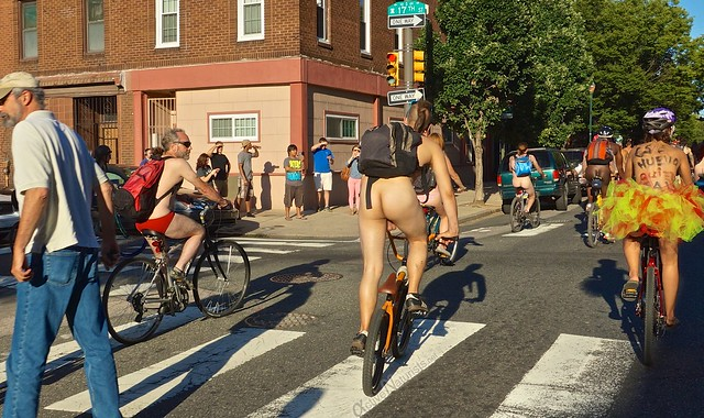 naturist 0111 Philly Naked Bike Ride, Philadelphia, PA USA