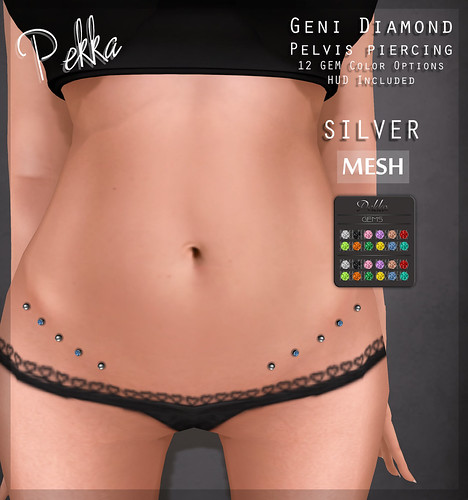 pekka geni diamond pelvis piercing silver