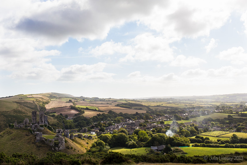 Corfe Castle from West Hill