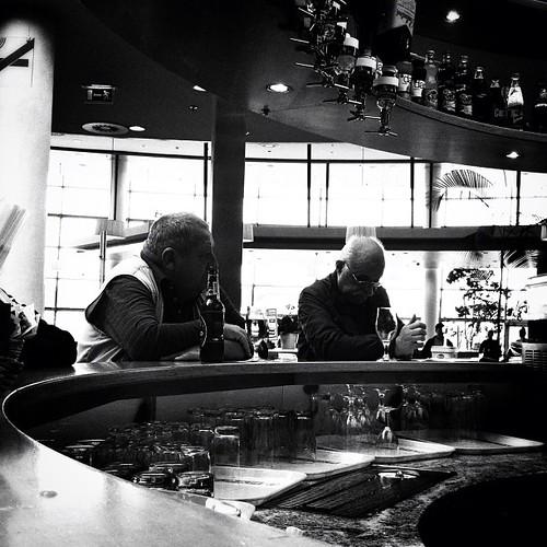 Guys sat at bar