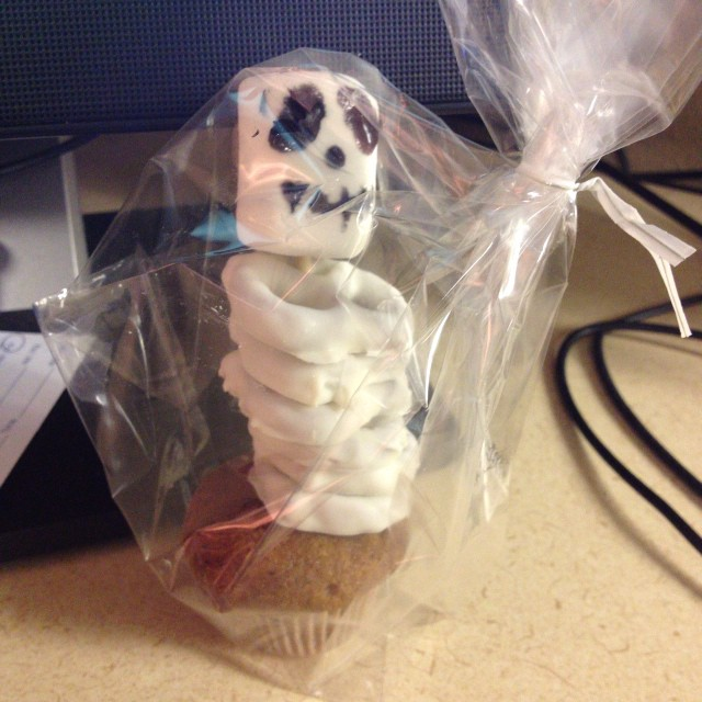 Cute Halloween treat from coworker Nici!