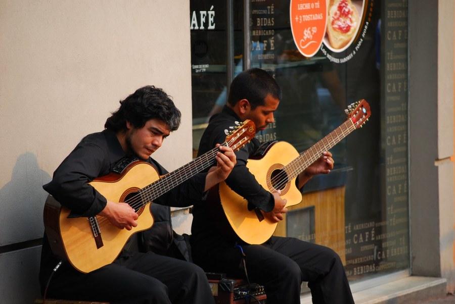 Guitarristas en Recoleta
