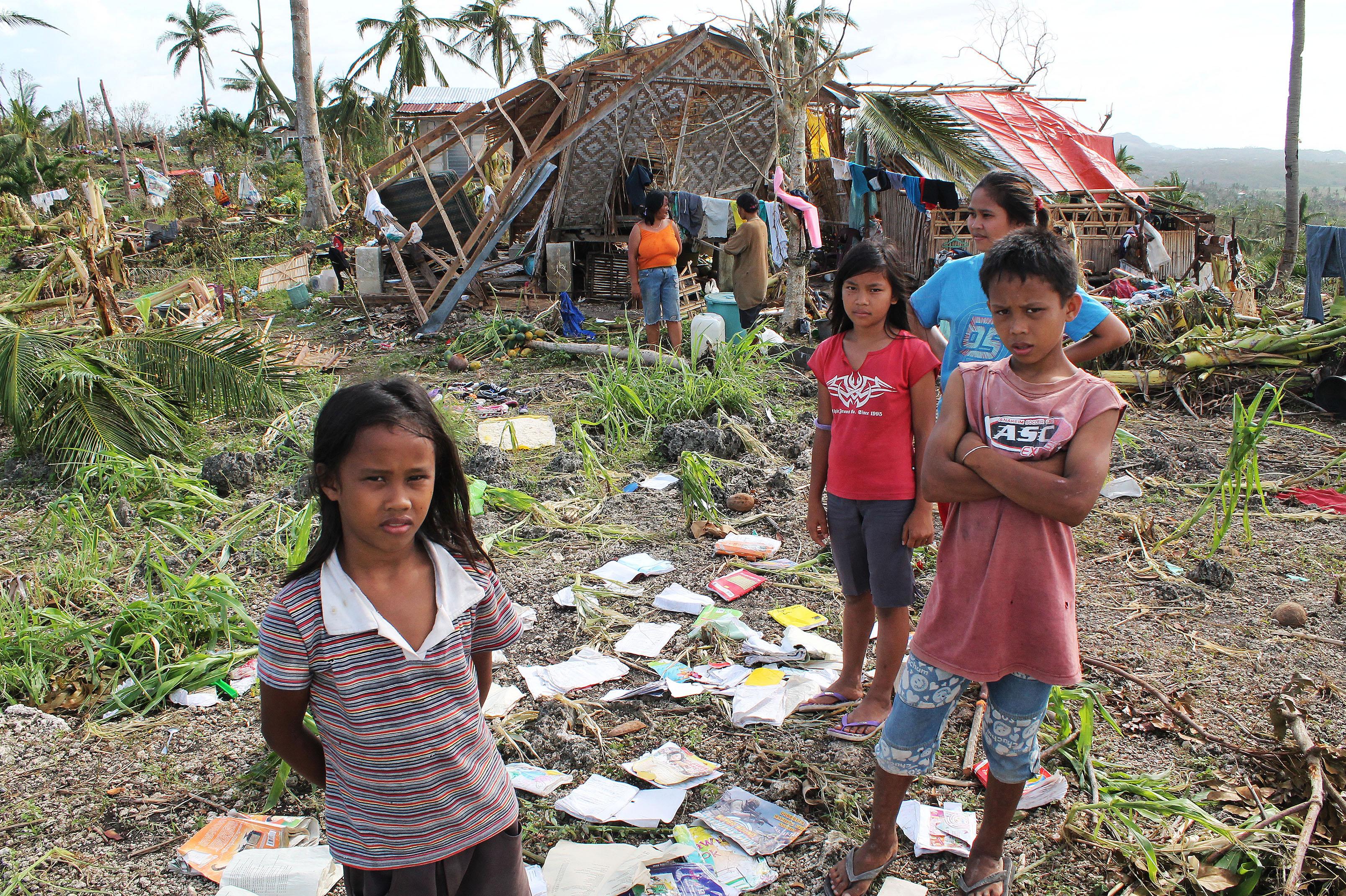 Disaster after typhoon Haiyan.