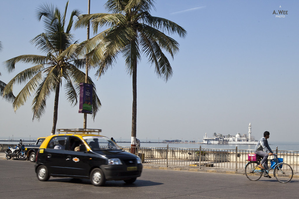 Along Haji Ali Bay
