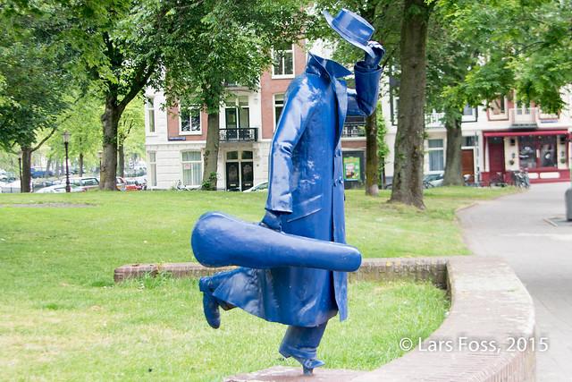 Statue in a park in Jordaan, Amsterdam
