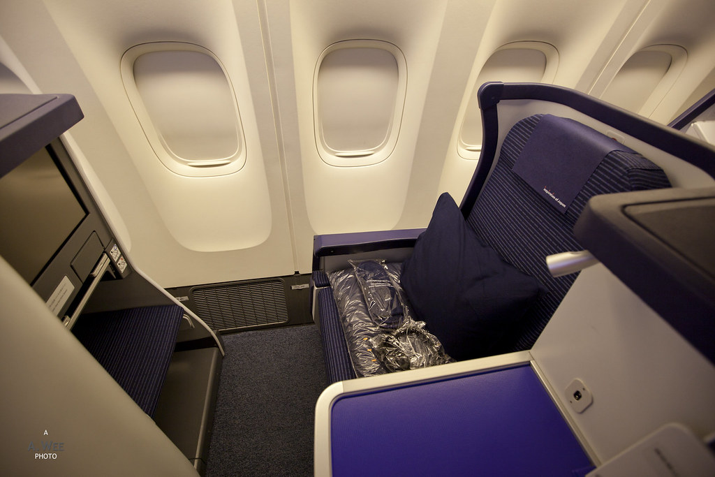 Business Class Seat on the 777-300ER