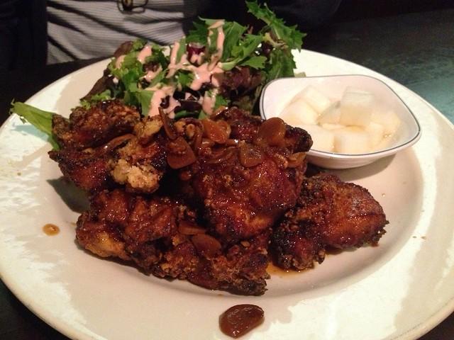 Spicy soy garlic Korean fried chicken - K-pop