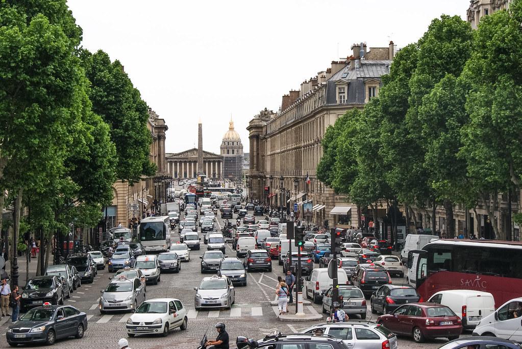 Rue Royale, palais Bourbon et obélisque de la Concorde