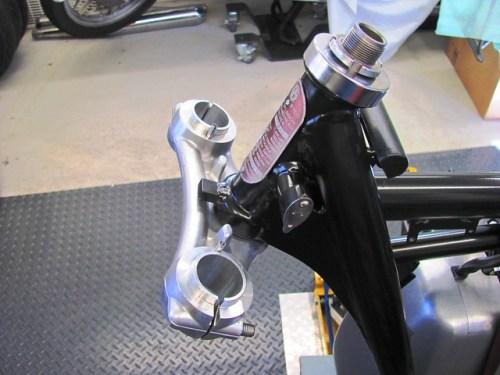 Steering Head after New Bearings Installed