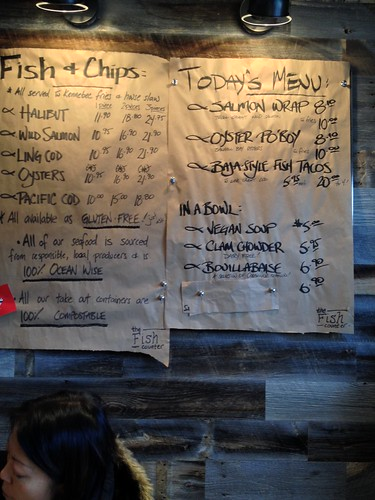 The fish counter daily menu