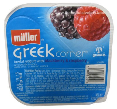 Muller Greek Corner Lowfat Yogurt with Blackberry & Raspberry