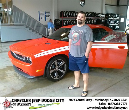 Thank you to Jeremy Etheredge on your new 2014 #Dodge #Challenger from David Walls and everyone at Dodge City of McKinney! #NewCar by Dodge City McKinney Texas
