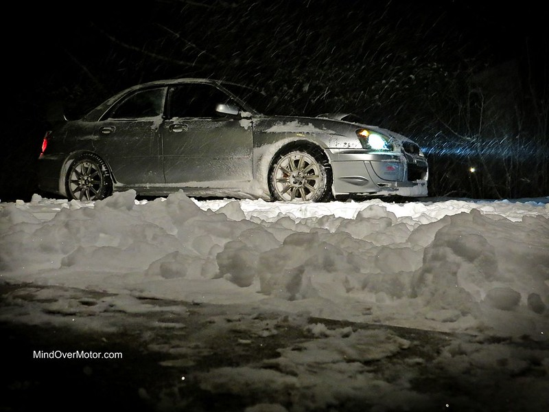 2004 Subaru WRX STi in the snow