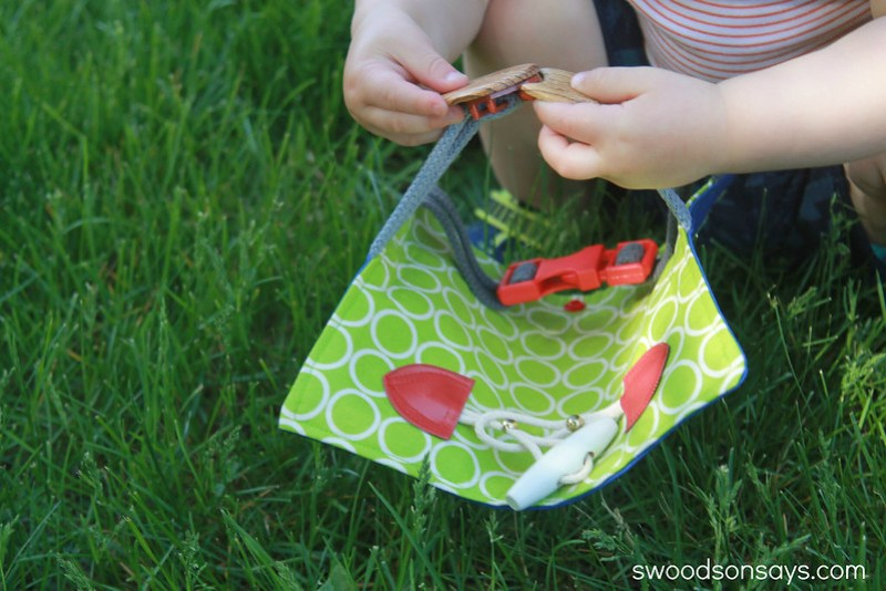 DIY Toddler Buckle Toy Tutorial - Swoodson Says