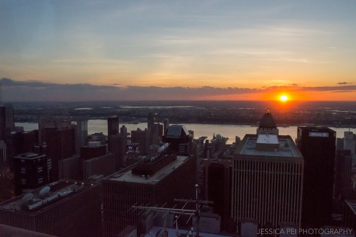New York City Sunset from Top of the Rock
