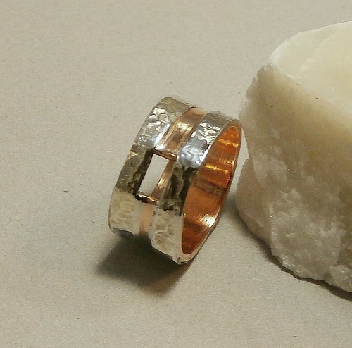 ring gilding metal, fine silver size 6 by Wolfgang Schweizer