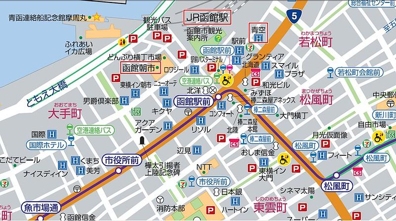 函館朝市市街圖