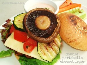 Double Portobello Cheeseburger