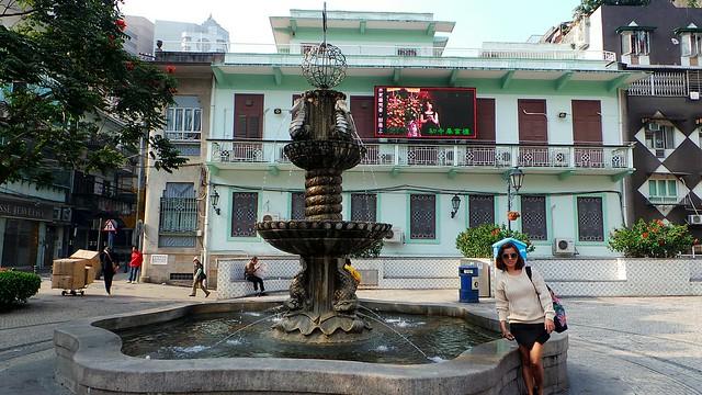 wishing fountain in Macau