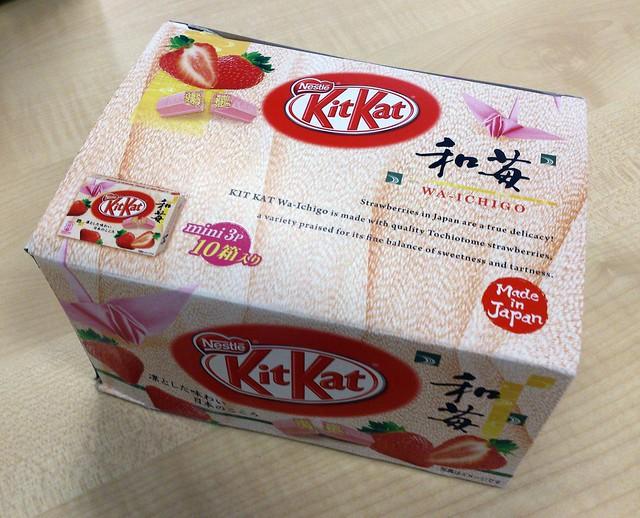 和苺 (Wa-ichigo – Japanese strawberry) Kit Kats