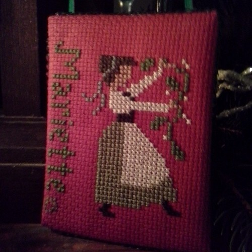 Made a 'lady dancing' for a coworker who is also a dancer. Personalized with her name.