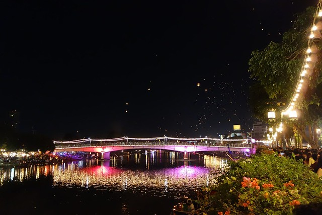 Bridge During Loi Krathong