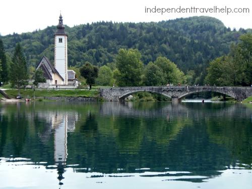 Church, Bohinj, Slovenia, lake, mountains, Europe