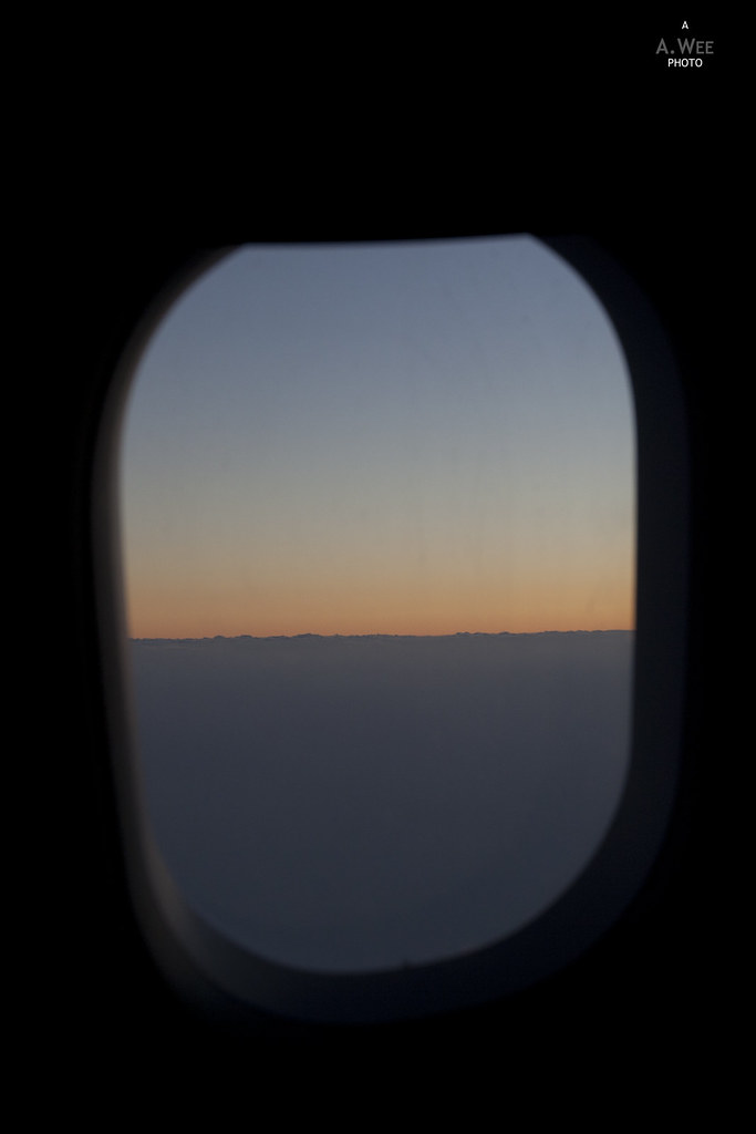 Sunset View from the Flight