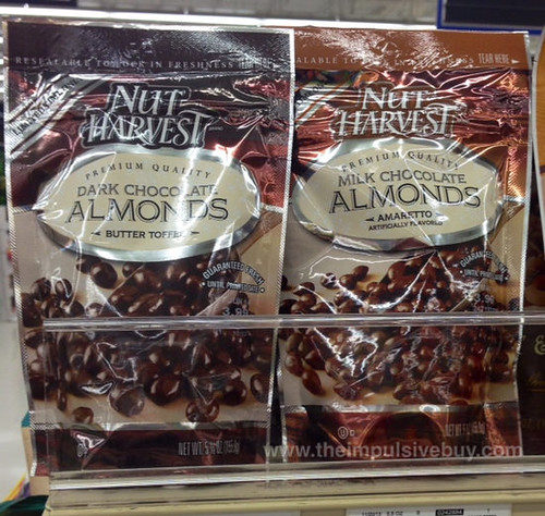 Limited Time Only Nut Harvest Butter Toffee Dark Chocolate Almonds and Amaretto Milk Chocolate Almonds
