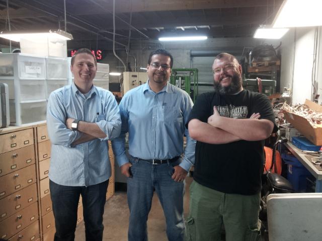 From the left, Mike Dudek, Myself and Dan Bishop