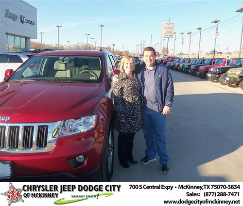 Happy Anniversary to Terry Bevins on your 2013 #Jeep #Grand Cherokee from George Rutledge  and everyone at Dodge City of McKinney! #Anniversary by Dodge City McKinney Texas