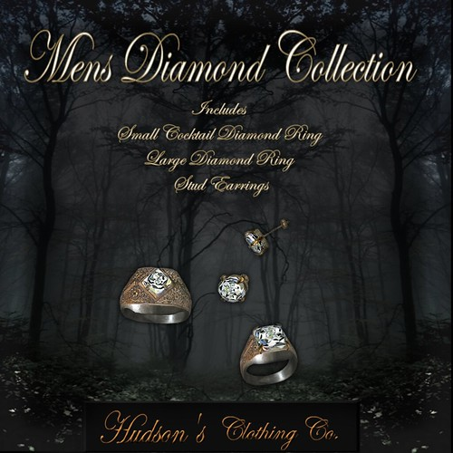 Mens Diamond Ring Collection