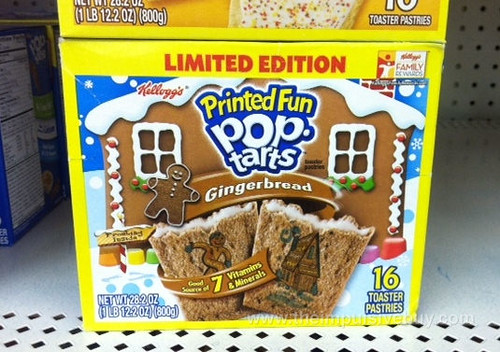 Limited Edition Gingerbread Printed Fun Pop-TArts