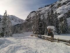 Start Skitour Großer Jaufen Parkplatz Brückele
