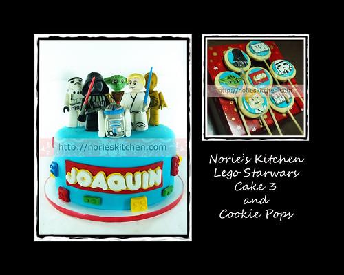 Norie's Kitchen - Lego Starwars Cake 3 - Cookie Pops by Norie's Kitchen