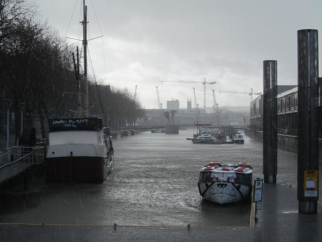 Bristol in a hail storm