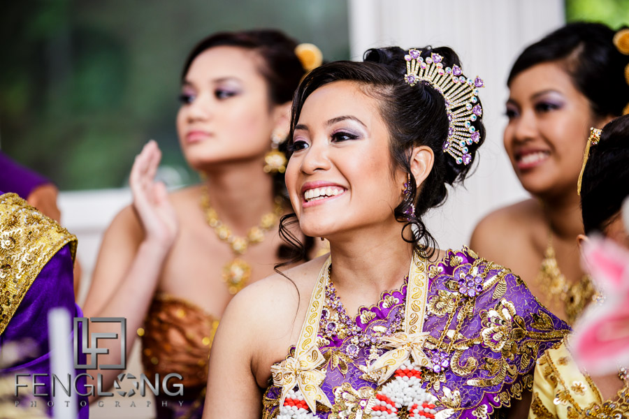 Cambodian bride during first Cambodian wedding ceremony